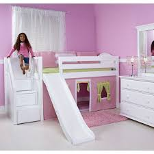 loft bed with slide and tent decor best safety loft bed with