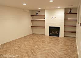 basement family room progress