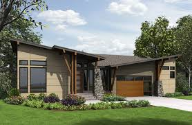 bed modern house plan for the sloping lot floor bed modern house plan for the sloping lot floor master suite butler walk pantry cad available contemporary den office library study