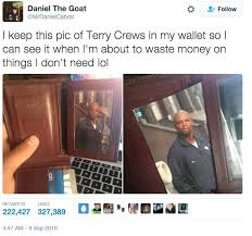 Meme Wallet - terry crews has a picture of himself in his wallet so he doesn t