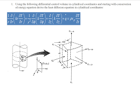 question using the following diffeial control volume in cylindrical coordinates and starting with cons