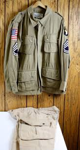 Star Flag Maker 101st Airborne 1942 Parachute Jacket With Pants Avirex Repro