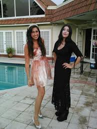 Morticia Addams Dress My Morticia Addams Costume And My Friends Carrie Costume For My