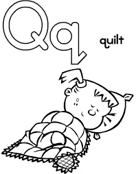 Nice Design Quilt Coloring Pages Letter Q Is For Page Free Coloring Pages Q