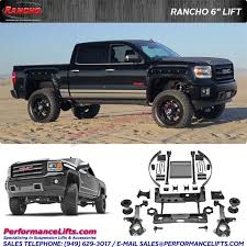 toyota tacoma rancho lift rancho suspension 2014 2017 silverado 1500 6 lift