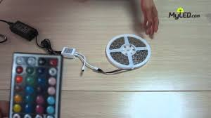 Remote Led Light Strips by Rgb Led Strip Light 60w With Remote Controller And Adapter Eu Plug