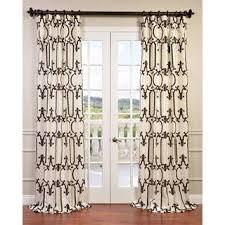 White Taffeta Curtains Exclusive Fabrics Royal Gate Flocked Faux Silk Taffeta Curtain