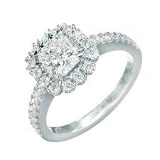 platinum halo engagement rings suchy square cushion cut platinum halo ring for sale
