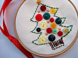 christmas tree craft with buttons christmas tree button craft by