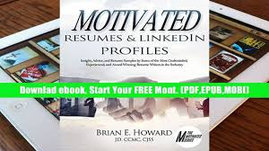 Linkedin And Resume Get Trial Motivated Resumes Linkedin Profiles Insight Advice