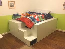 ikea stairs ikea hack platform bed with stairs ideas images piebirddesign com