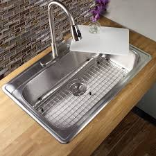 33 inch 18 stainless steel drop in single bowl kitchen sink