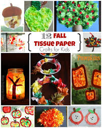 12 fun fall crafts for kids using tissue paper where imagination