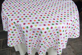 gold polka dot table cover and square tablecloths