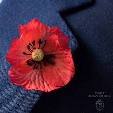boutonniere flower poppy boutonniere remembrance day flower by fort belvedere
