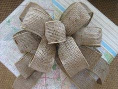 burlap ribbon bow diy how to tie a loopy bow cant wait easy and wreaths