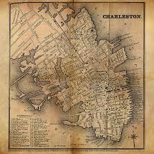 Charleston Sc Map Charleston Vintage Map No I Painting By James Christopher Hill