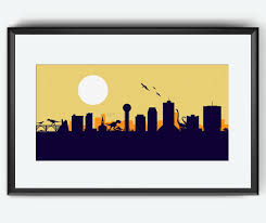 knoxville skyline print dinosaurs print knoxville tennessee