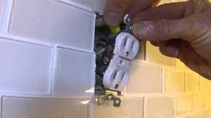 How To Put Up Kitchen Backsplash by How To Extend Electrical Outlets Over Tile Youtube