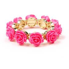 bracelet rose images Rose stretch bracelet shop amrita singh jewelry