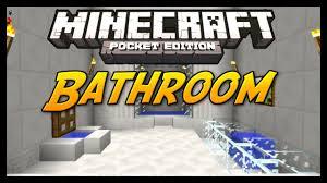 minecraft pocket edition tutorial how to build a bathroom youtube