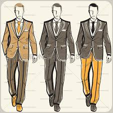 men in suits fashion vector stock