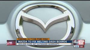 lexus recall on dashboards mazda extends warranty to fix melting dash boards youtube