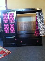Entertainment Center Armoire Old Entertainment Center Turned Kids Armoire