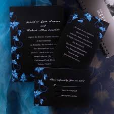 cheapest wedding invitations damask black and blue wedding invitations ewi037 as low as
