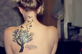 back tree and birds tattoos for tattoos