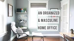 an organized and masculine home office tour youtube