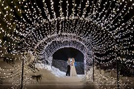 winter wedding on the grouse mountain light walk i