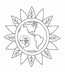 keep the earth green earth day coloring page for kids coloring