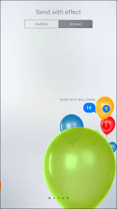 send balloons how to send imessage with screen effects in ios 10 on iphone or