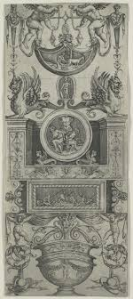 ornament panel attributed to agostino veneziano 49 95 41