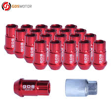 nissan altima lug nut key 20pcs 44mm universal extended wheel lug nuts 12x1 25 red for