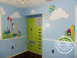 dr seuss bedroom ideas murals dr seuss cat in the hat and lorax nursery wall murals by