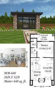 16x30 1 Bedroom House 16x30h1 480 Sq Ft Excellent Floor 20 Square Home Designs