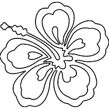 hawaiian coloring pages hawaii flower coloring page az