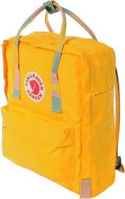 kanken backpack yellow