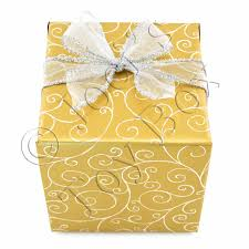 gold gift wrap silver swirls on gold gift wrapping joei s box