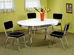 50 s kitchen table and chairs amazon com 50 s soda fountain table and chairs set by coaster