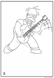 simpsons coloring pages 08