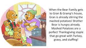 the berenstain bears thanksgiving favorites the berenstain