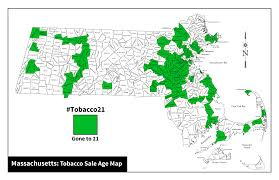 Map Of Massachusetts by Massachusetts Considers Raising Tobacco Purchasing Age To 21