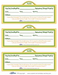 printable sesame street sign invitation