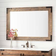 Mirrors Bathroom Vanity Bonner Reclaimed Wood Vanity Mirror Gray Wash Pine Bathroom