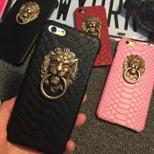 metal lion ring holder images Luxury 3d relief lion head metal ring holder phone kickstand cases jpg
