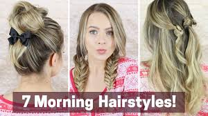 hairstyles quick and easy to do m 7 quick morning hairstyles youtube