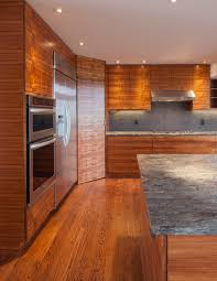 kitchen cabinets veneer bookmatched koa wood kitchen creates winning warmth woodworking